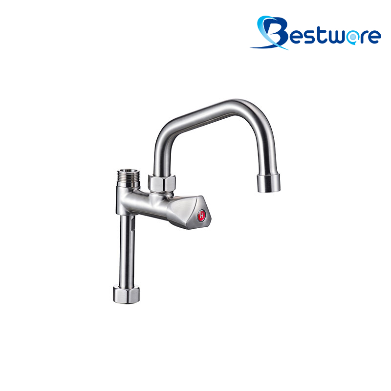 Single Deck Mount Café Pre Rinse Faucet