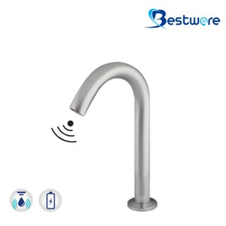 Stainless Touch Free Faucet operated by IR Sensor - 260mmH